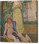 Art Nouveau Painting In The Mayors Canvas Print
