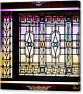 Art-nouveau Stained Glass Window Canvas Print