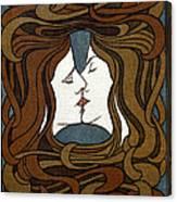 Art Nouveau Woodblock Print  1898 Canvas Print