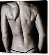 Art Of A Woman's Back Muscles  Canvas Print