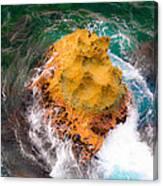 Art Of Rocks At Waianae Coast Canvas Print