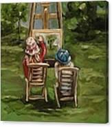 Art Of Teaching Oil Painting Canvas Print