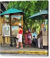 Art Show In San Juan Canvas Print