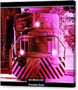Art Work 123 Locomotive Canvas Print
