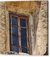 Artful Window At Mission San Jose In San Antonio Missions National Historical Park Canvas Print