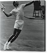 Arthur Ashe Playing Tennis Canvas Print