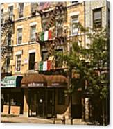 Arthur Avenue In The Bronx Canvas Print