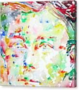 Arthur Rimbaud Watercolor Portrait Canvas Print
