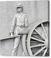 Artillery Detail On Monument Canvas Print