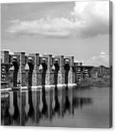 Artisan Lakes Bridge 1bw Canvas Print