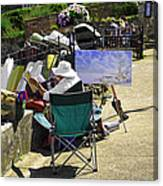 Artist At Work In Seaview - Isle Of Wight Canvas Print