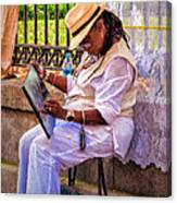 Artist At Work - Painting  Canvas Print