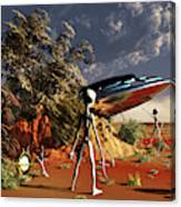 Artist Concept Of The Roswell Incident Canvas Print
