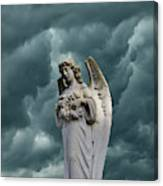 Artistic Creation Of Angel And Dark Canvas Print