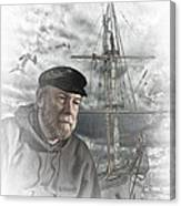 Artistic Digital Image Of An Old Sea Captain Canvas Print