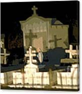 Louisiana Midnight Cemetery Lacombe Canvas Print