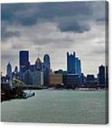 Artistic Pittsburgh Skyline Canvas Print