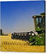 Artists Choice Two Combine Harvesters Canvas Print