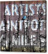 Artists' Paintpots Sign Canvas Print