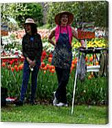 Artists Posing For Papparazzi II Canvas Print