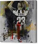 Arturo Vidal - B Canvas Print