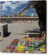 Artwork At Street Market In Curacao Canvas Print
