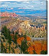 As Far As The Eye Can See From Farview Point In Bryce Canyon-utah   Canvas Print