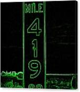 As Pure As It Gets In Green Neon Canvas Print