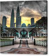 As Syakirin Mosque And Petronas Tower Canvas Print