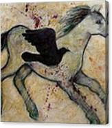 As The Crow Flies Impasto Horse Canvas Print
