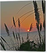 as the sun sets at Seascape Canvas Print
