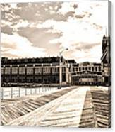 Asbury Park Boardwalk And Convention Center Canvas Print