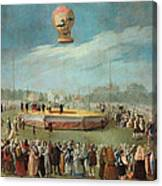 Ascent Of A Balloon In The Presence Of The Court Of Charles Iv Canvas Print