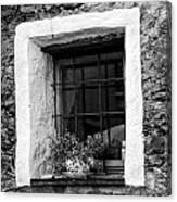 Ascona Window Bw Canvas Print