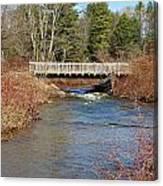 Ash Brook And Bridge Canvas Print