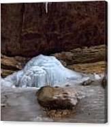 Ash Cave Frozen Over Canvas Print