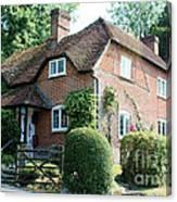 Ashers Farmhouse Five Bells Lane Nether Wallop Canvas Print