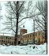 Asheville High School During Winter Canvas Print