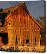 Ashland Barn In Evening Light Canvas Print