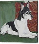 Ashley On Her Sofa Canvas Print