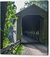 Ashtabula Collection - Middle Road Covered Bridge 7k01959 Canvas Print