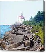 Ashtabula Lighthouse On Lake Erie Canvas Print