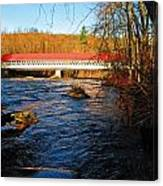 Ashuelot Covered Bridge Scene Canvas Print