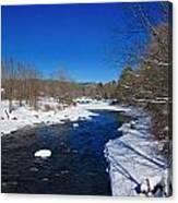 Ashuelot River In Winter Canvas Print