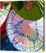 Asian Umbrellas Canvas Print