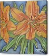 Asiatic Lilies Canvas Print