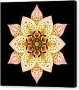Asiatic Lily Flower Mandala Canvas Print