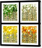 Aspen Colorado Abstract Square 4 In 1 Collection Canvas Print