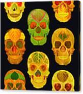 Aspen Leaf Skulls Poster 2014 Black Canvas Print