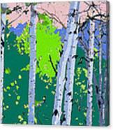 Aspensincolor Green Canvas Print